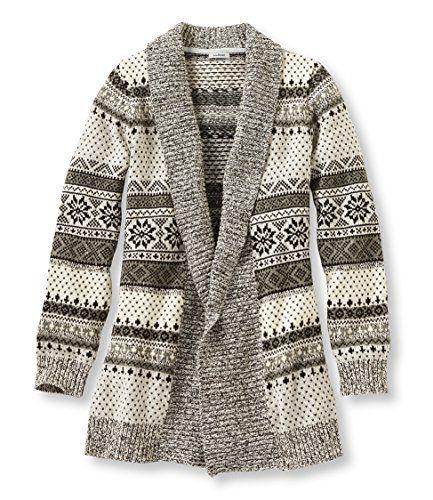 L.L.Bean Women's Textured Donegal Sweaters, Open Cardigan Fair ...