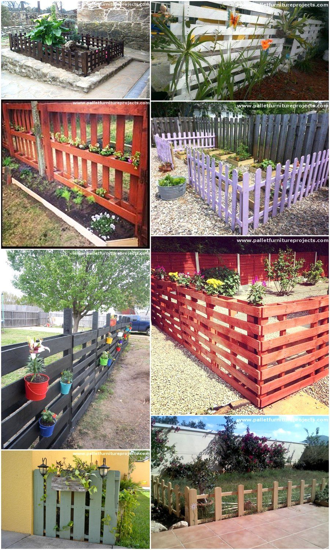 Ideas For Pallet Fences Projets En Bois De Palette Cloture De Palette En Bois Projets Bois