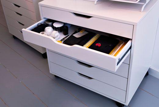 Ikea Bürocontainer ikea rollcontainer wie alex schubladenelement auf rollen in weiß