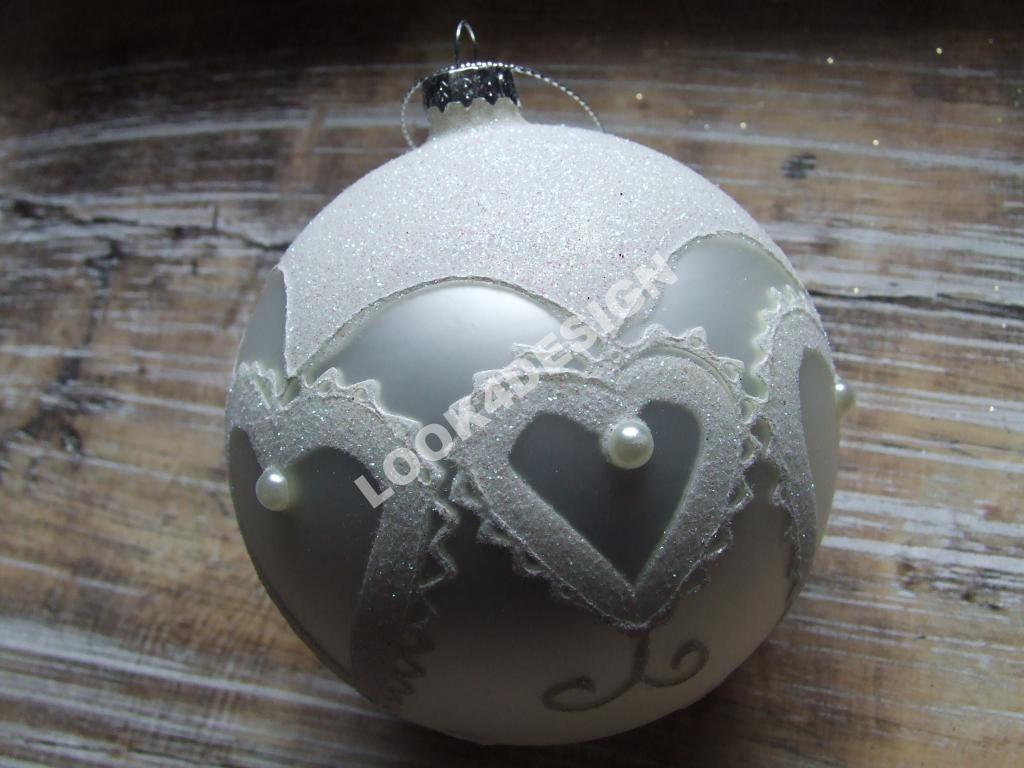 Duze Zdobione Bombki Biale Retro Xl Komplet 4 Szt 4853183267 Oficjalne Archiwum Allegro Christmas Bulbs Christmas Ornaments Holiday Decor
