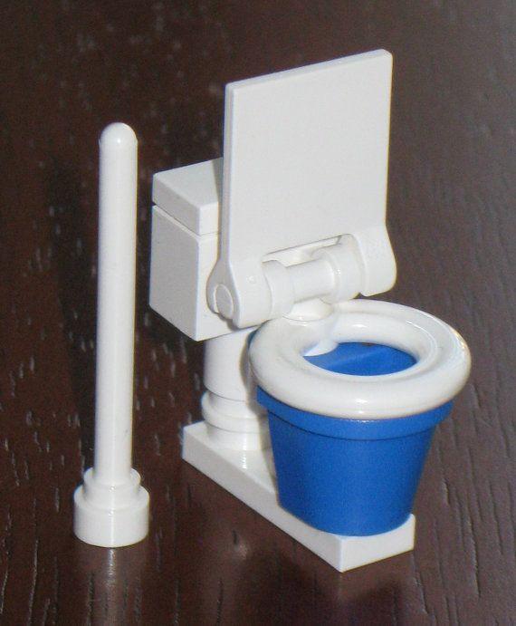 New Custom Lego Bathroom Set Blue Toilet By LegoInspirations   Kalles Mapp    Pinterest