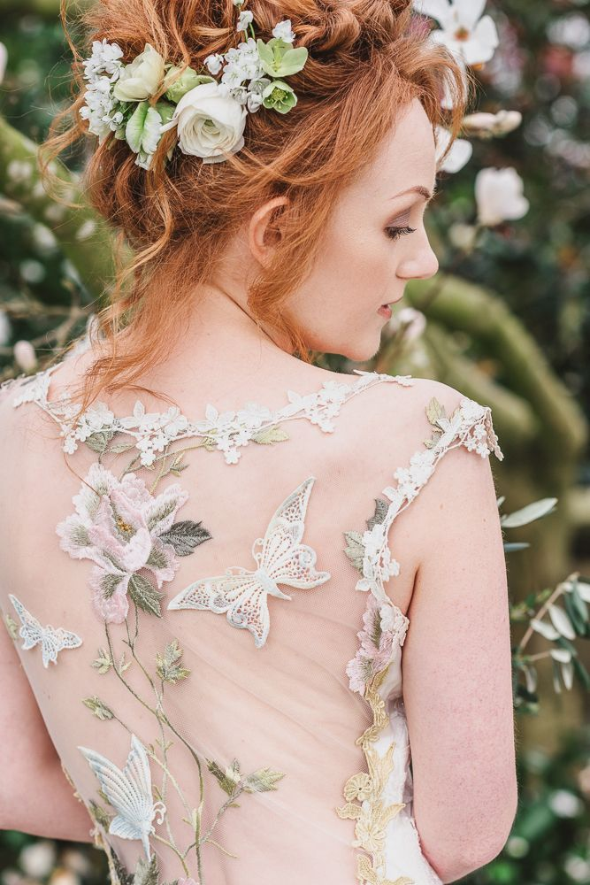 Papillon wedding dress by Claire Pettibone