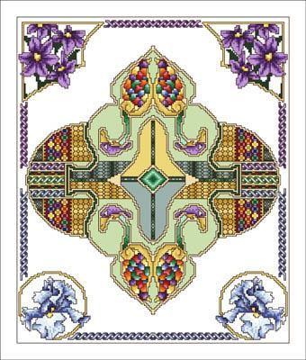 East ornament cross stitch pattern Turkish cross stitch mandala #165 modern cross stitch geometric circle