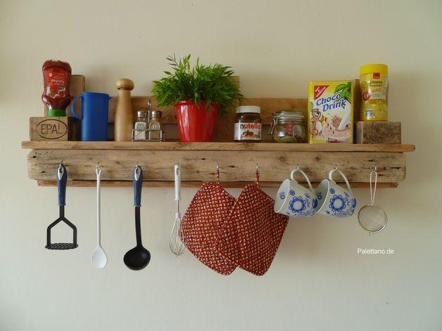 küchenregal mit haken aus euro paletten | küchenregal, haken und euro