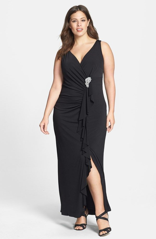 5 Beautiful Plus Size Evening Gowns & Dresses For Summer | Pinterest ...