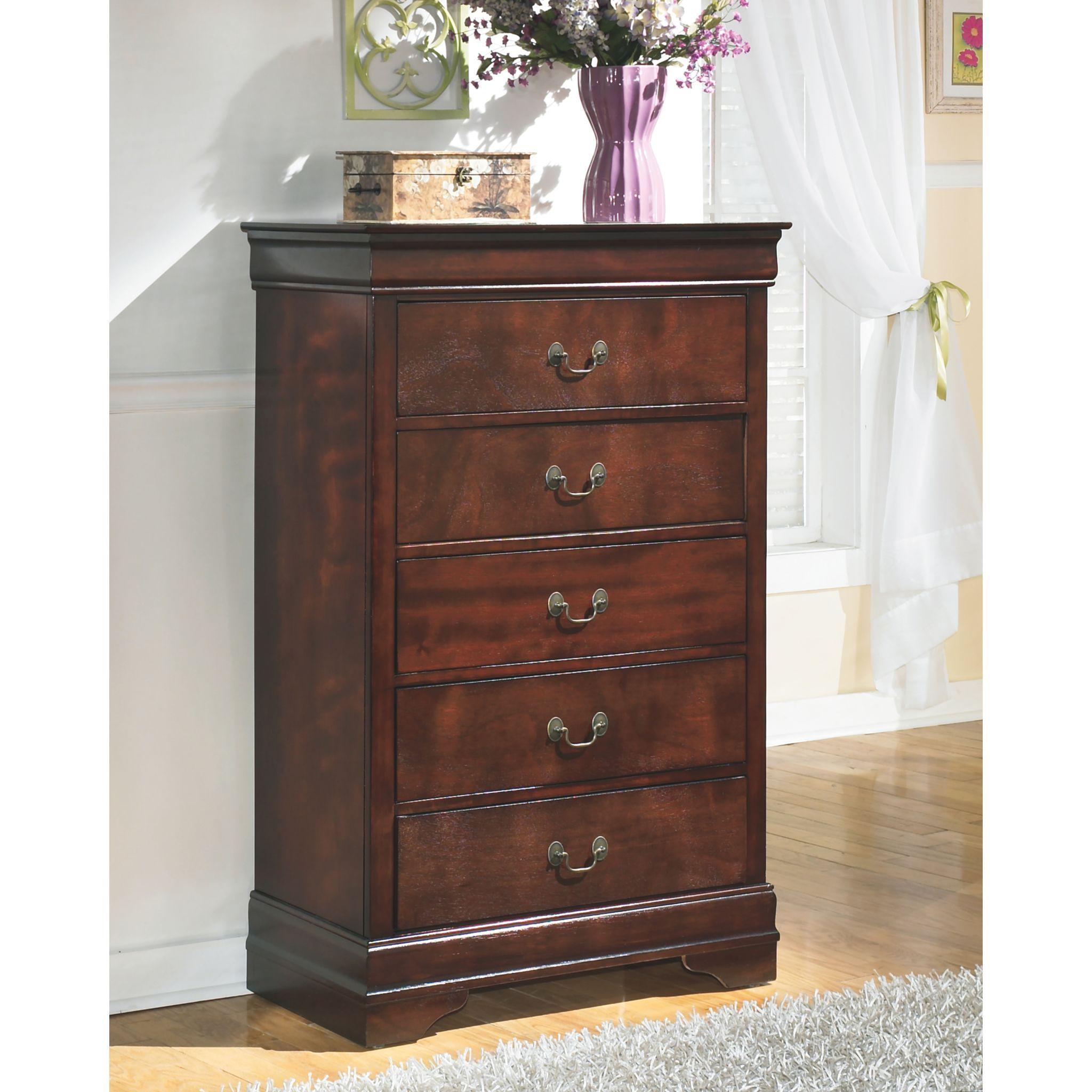 Alisdair Chest Dark Brown Chest Of Drawers Brown Chests Ashley Furniture Dark brown chest of drawers
