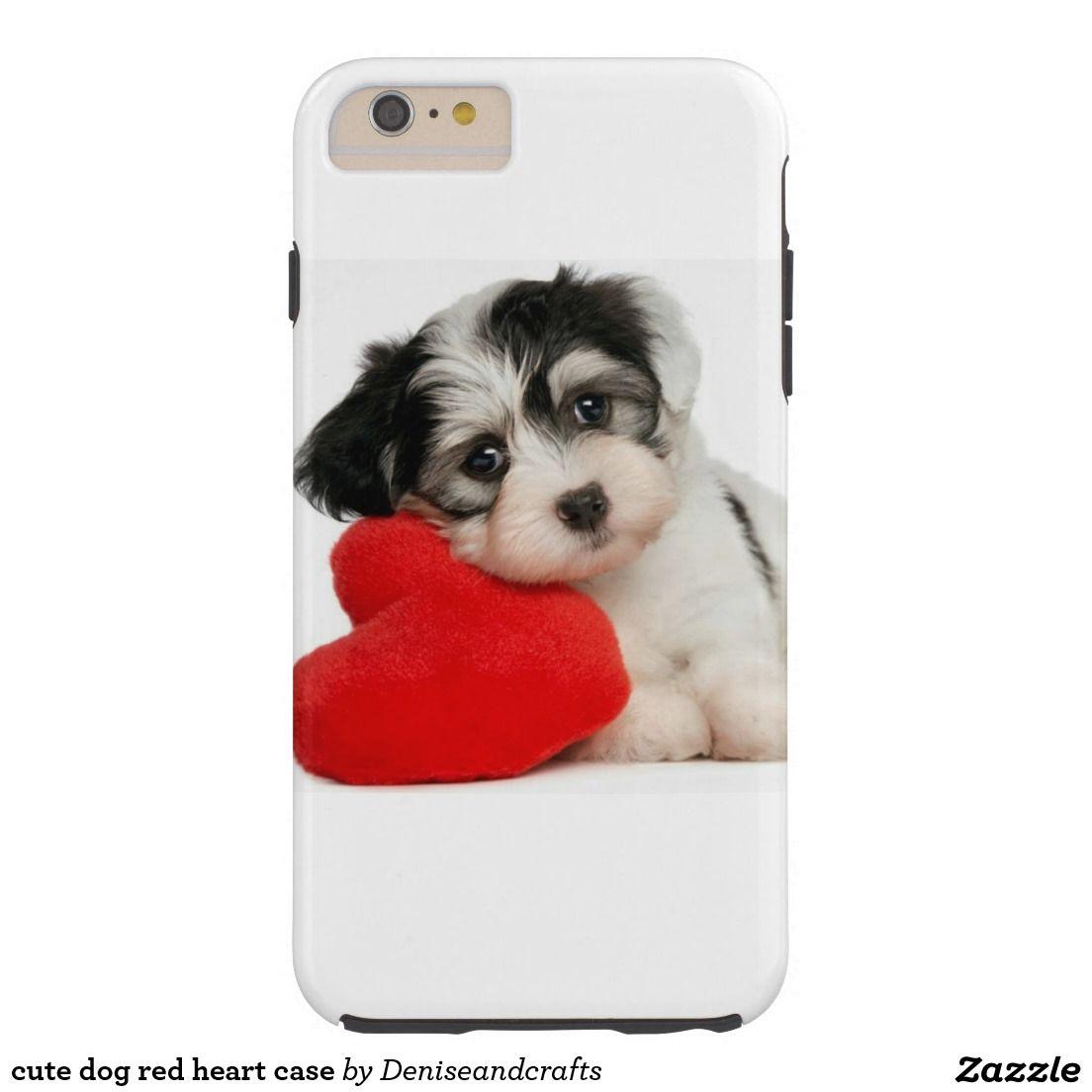 cute dog red heart case