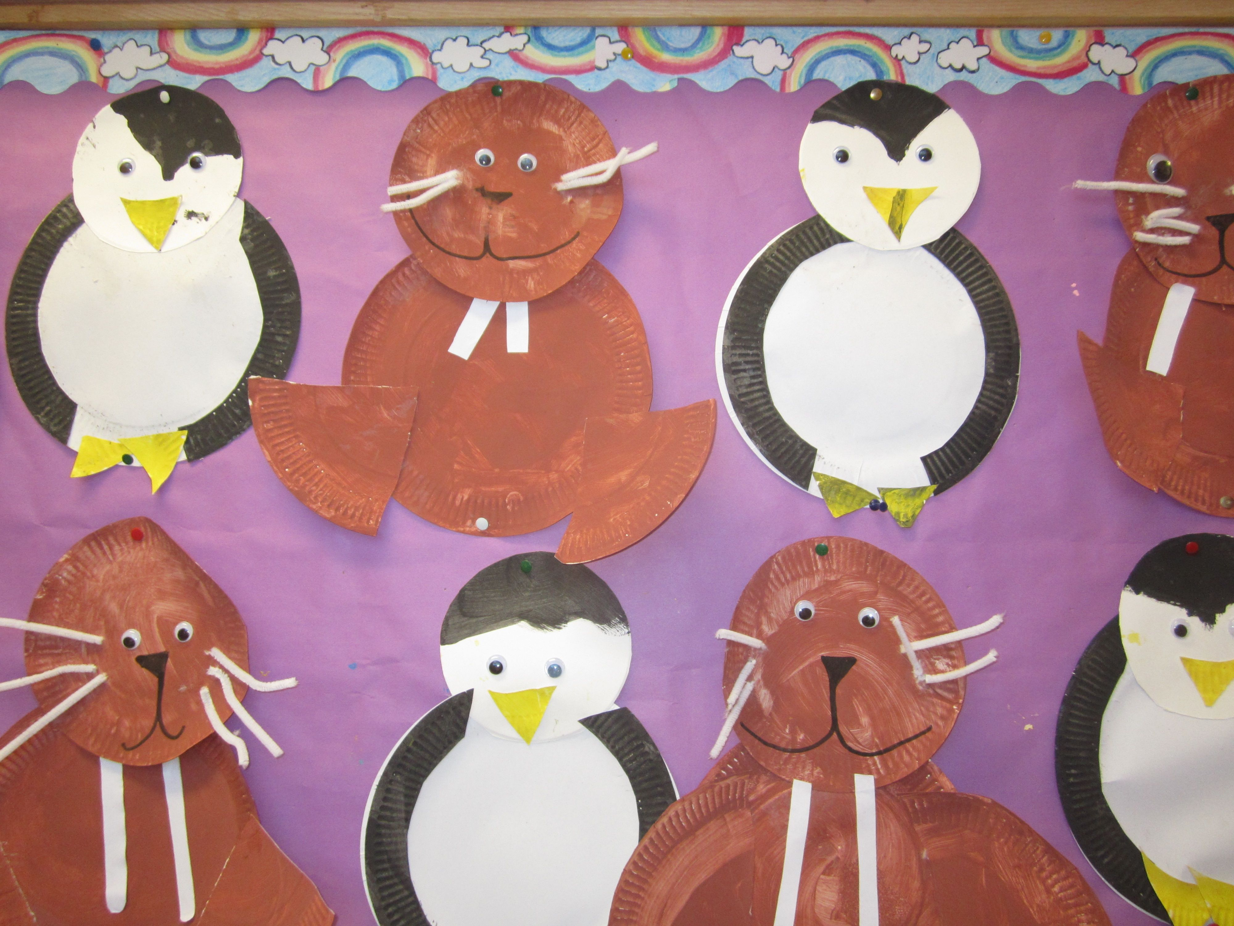 paper plate walrus and penguin & paper plate walrus and penguin | art ideas | Pinterest
