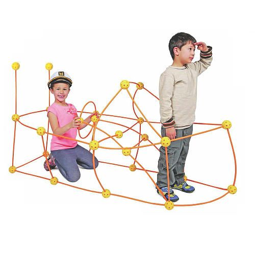 Discovery Kids 69 Piece Build And Play Flexible Construction Fort
