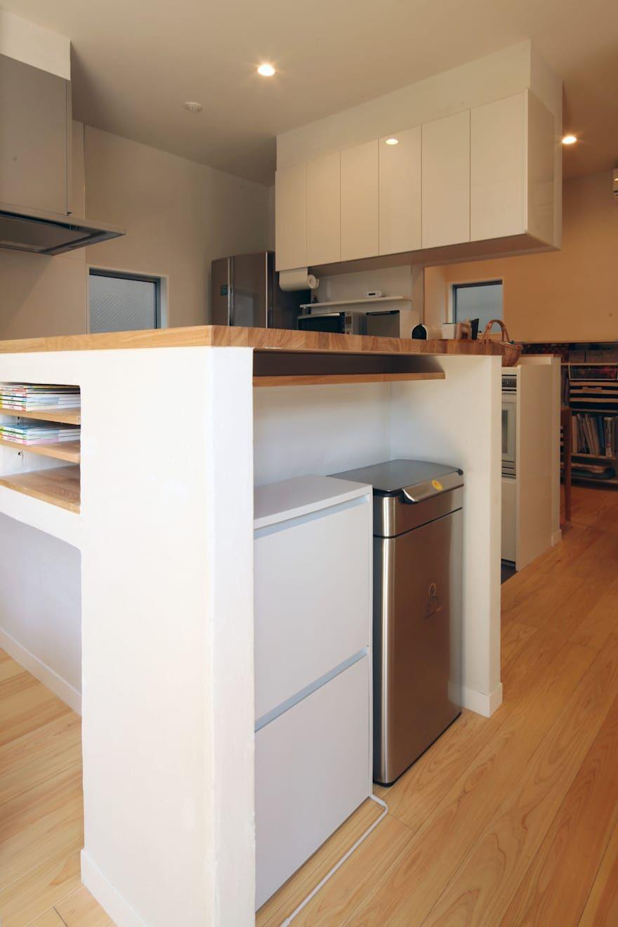 キッチンのレイアウト画像 リフォーム実例 収納 画像あり
