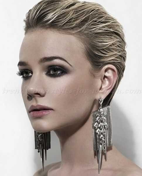 Penteado De Verao Slicked Back Hair Wet Look Hair Womens Hairstyles Slicked Back Hair