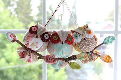 Owl Ornaments!   PatchworkPottery   Bloglovin'