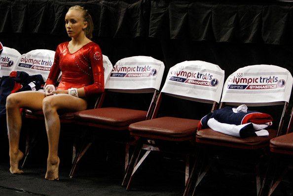 Nastia Liukin Photos Photos - Nastia Liukin competes on the balance beam during day four of the 2008 U.S. Olympic Team Trials for gymnastics at the Wachovia Center on June 22, 2008 in Philadelphia, Pennsylvania. - 2008 U.S. Olympic Team Trials - Gymnastics Day 4