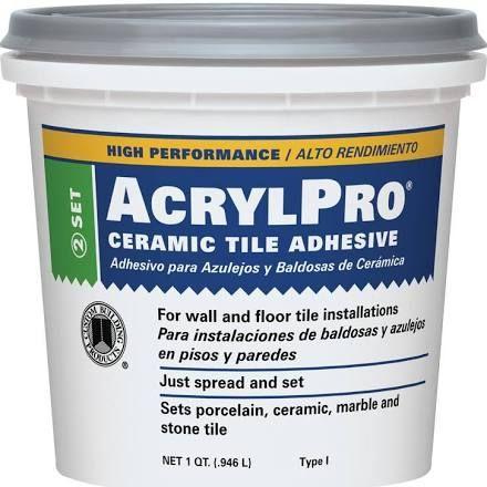 Custom Building Acrylpro Ceramic Tile Mastic Adhesive White 1 Gal Pail Adhesive Tiles Ceramic Tiles Ceramics