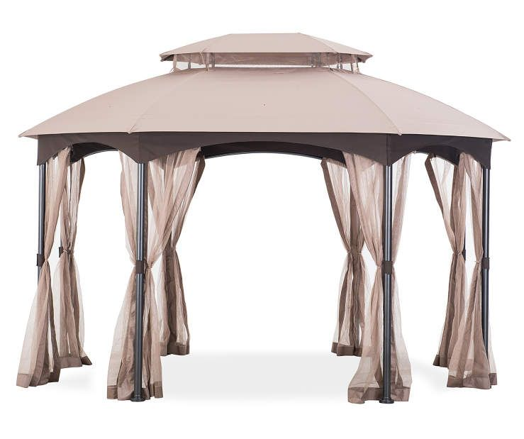 Wilson Fisher Manhattan Oval Gazebo 10 X 12 Big Lots Gazebo Big Lots Oval Gazebo Gazebo