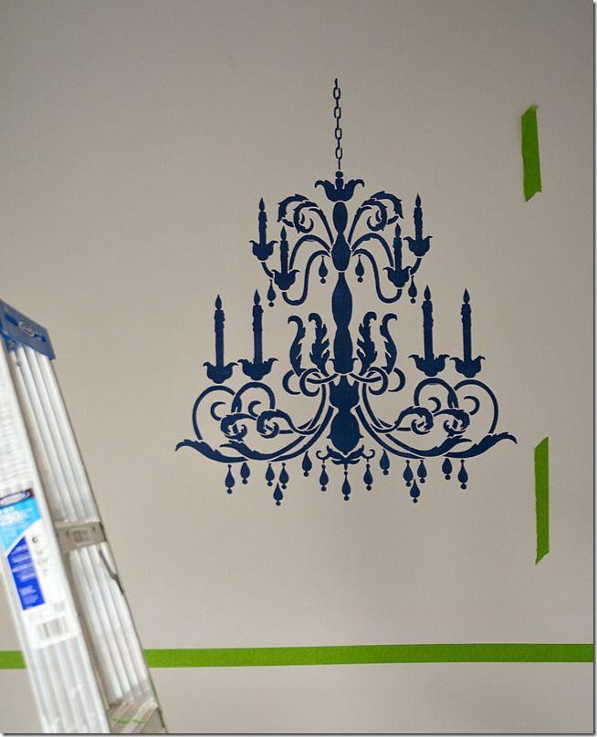 Chandelier stencil stenciling chandeliers and champagne taste chandelier stencil mozeypictures Images