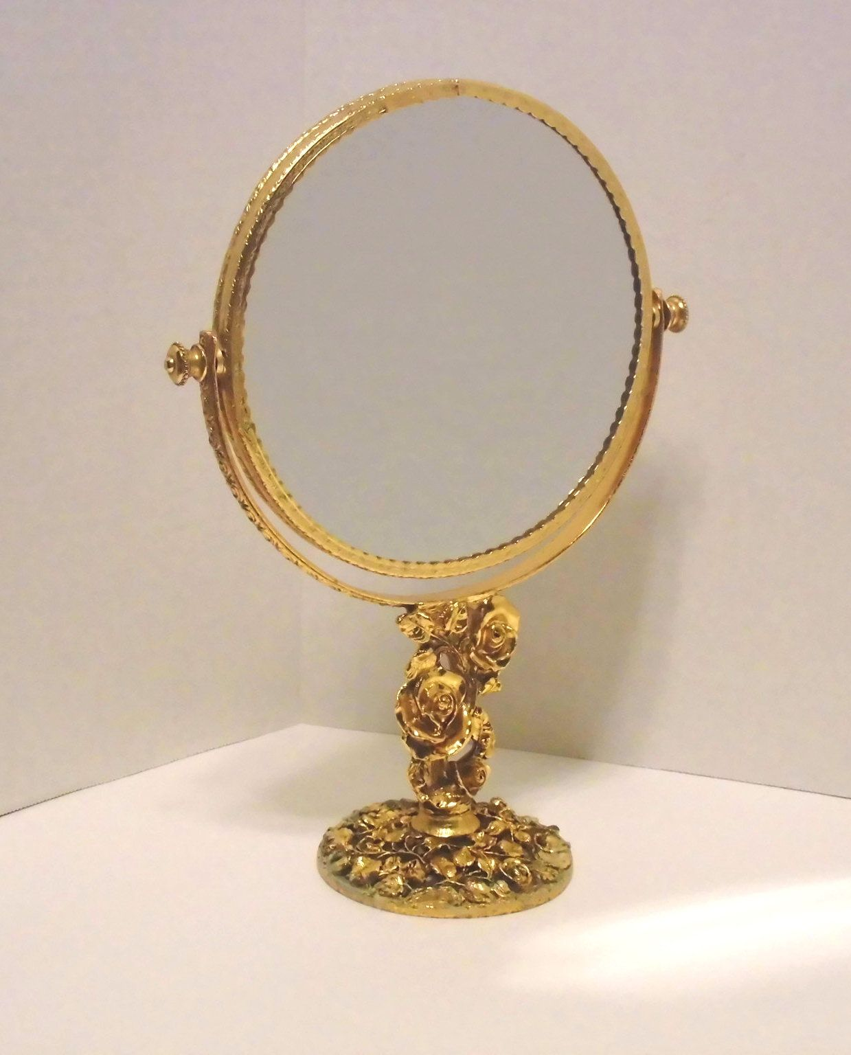 Vintage gold color free standing Stylebuilt brand mirror