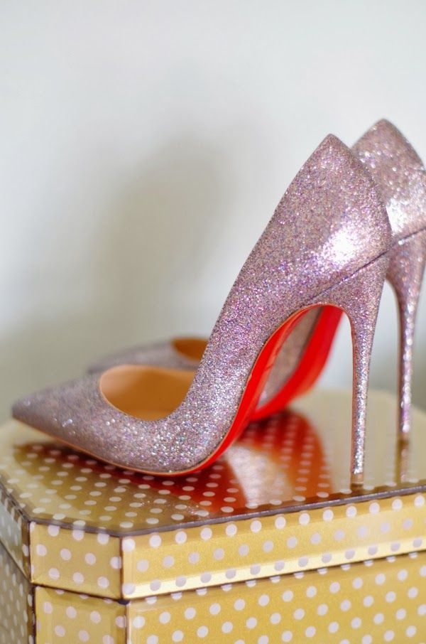 glitter christian louboutin 'so kate 120' pumps. beautiful colour. #shoeporn