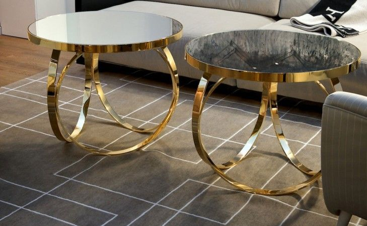 Oval Metal Coffee Table