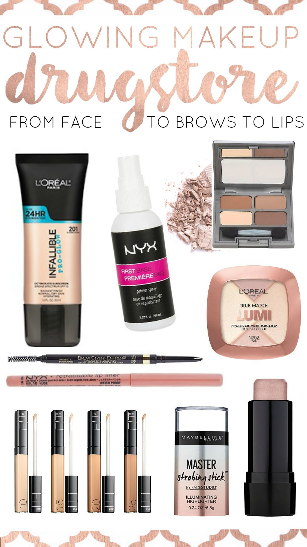 Drugstore Makeup Dupes: Drugstore Beauty Products: Dewy Glow