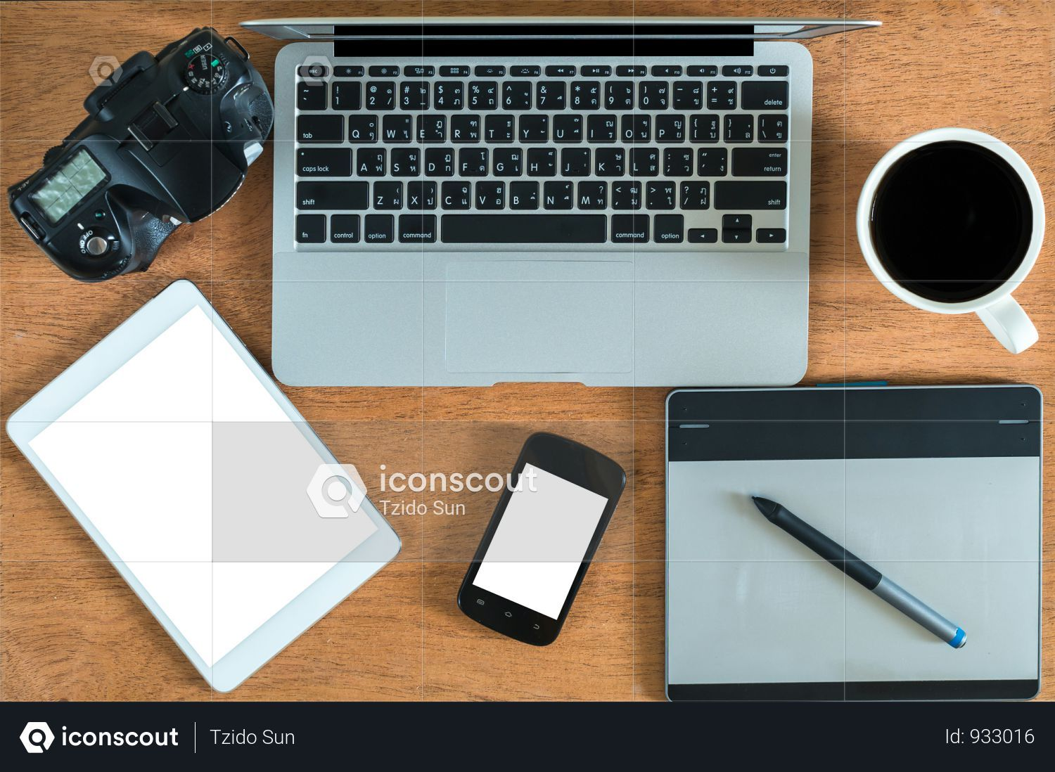 Flat Lay Photography Of Office Wooden Desk Photo Wooden Desk Flat Lay Photography Digital Tablet