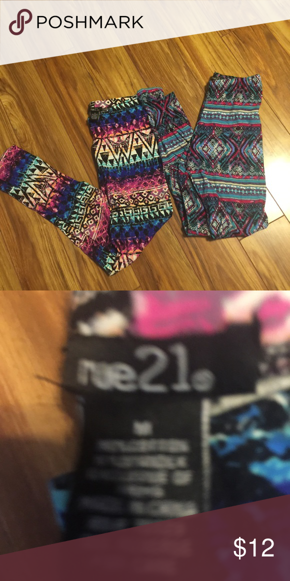 Rue 21 Leggings!!! ✨ 2 pair of Rue 21 leggings! Extremely comfortable, stretchy, & only worn a handful of times! Excellent condition. No rips, stains, or tears. Rue 21 Pants Leggings