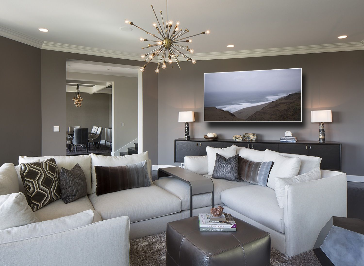 35 Chic Gray U0026 Neutral Living Spaces