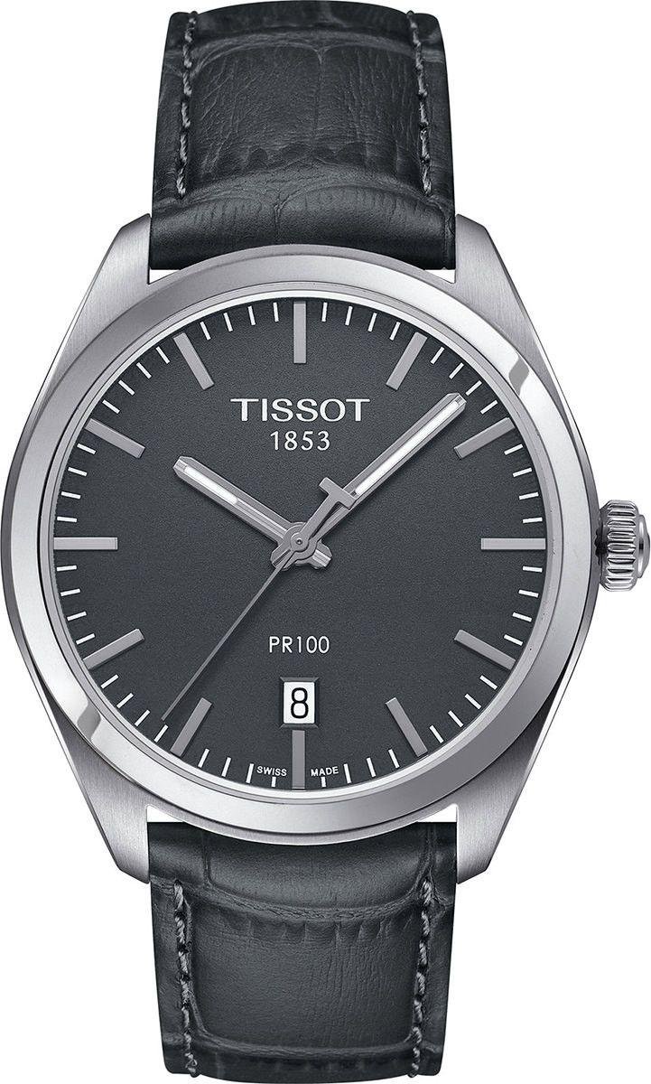 Tissot T Classic Steel Quartz Black Dial Color Men Watch T101 410 16 441 00 Watches For Men Tissot Watches Leather Straps [ 1200 x 721 Pixel ]