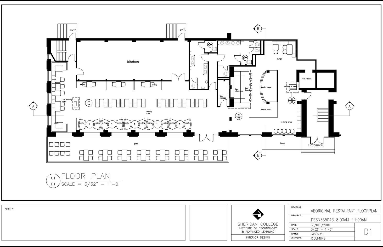 Interior  Restaurant Floor Plan With Bar With Lovely Best