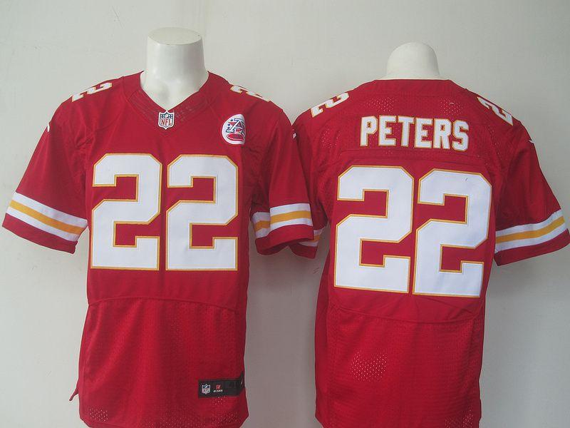 newest 39408 4484f Men's NFL Kansas City Chiefs #22 Marcus Peters Red Elite ...