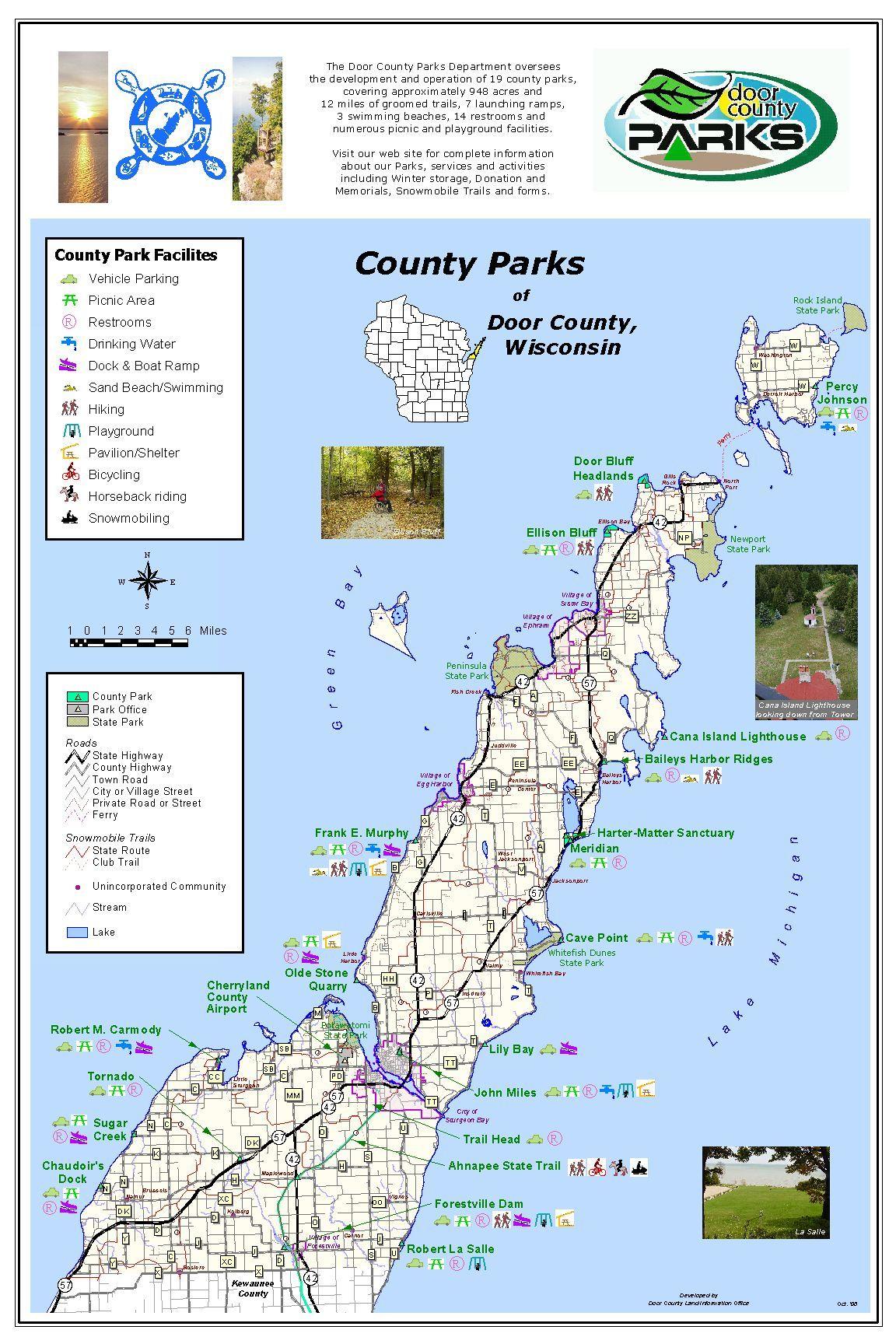 Door County Park Map Door County Door County Wi Door County Wisconsin