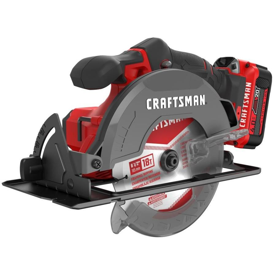 Craftsman V20 20 Volt Max 6 1 2 In Cordless Circular Saw With Brake And Metal Shoe Charger Included Cmcs50 In 2020 Cordless Circular Saw Circular Saw Craftsman Tools