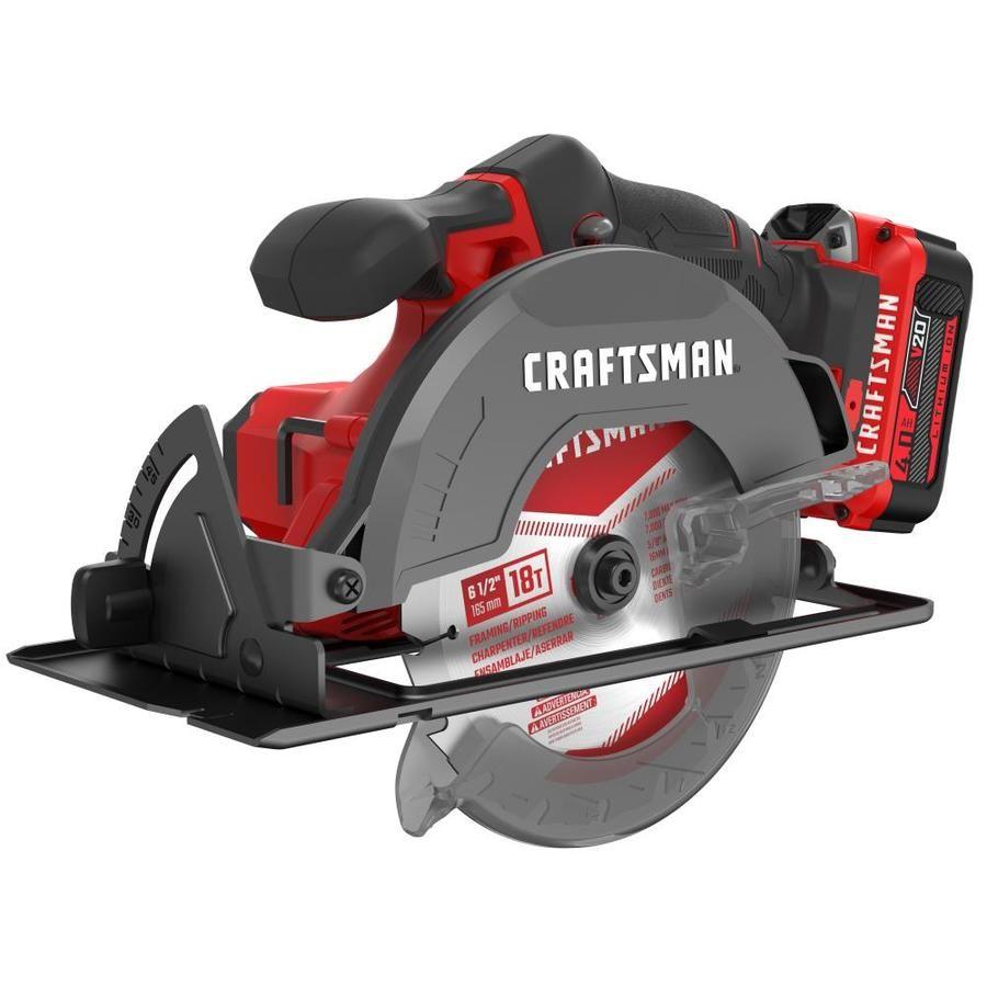 Craftsman V20 20 Volt Max 6 1 2 In Cordless Circular Saw With