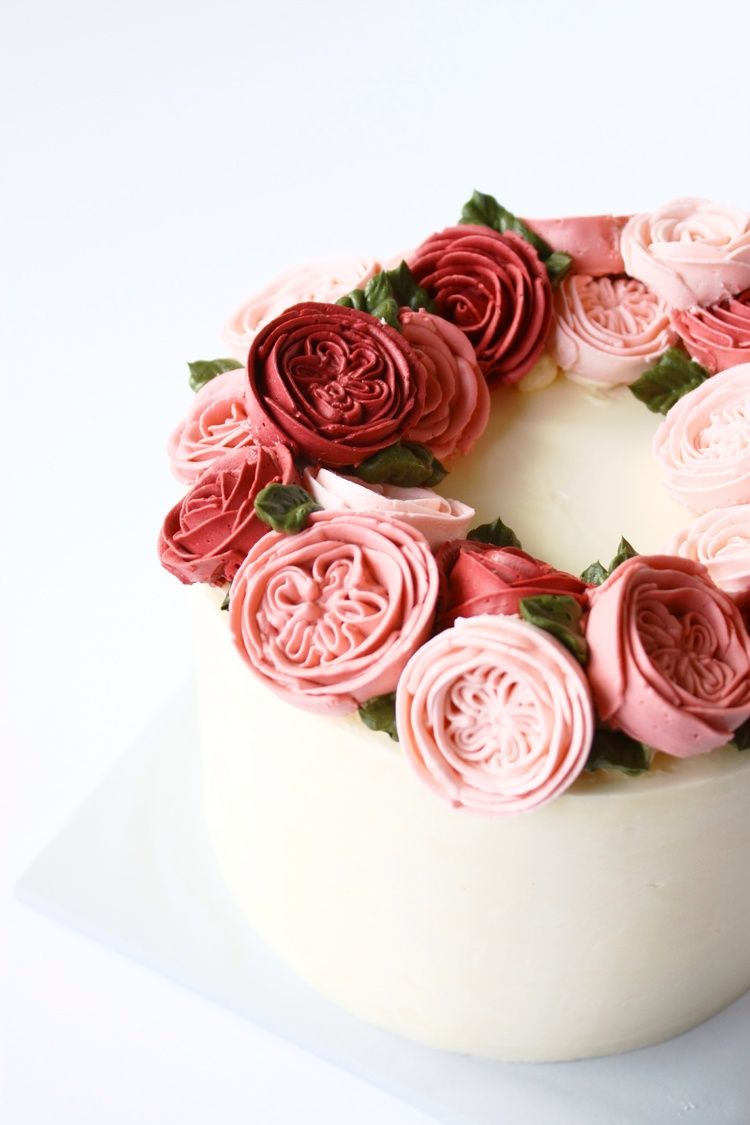 Eat Cake Be Merry Buttercream English Rose Flower Cake Buttercream Cake Decorating Butter Cream Buttercream Flower Cake