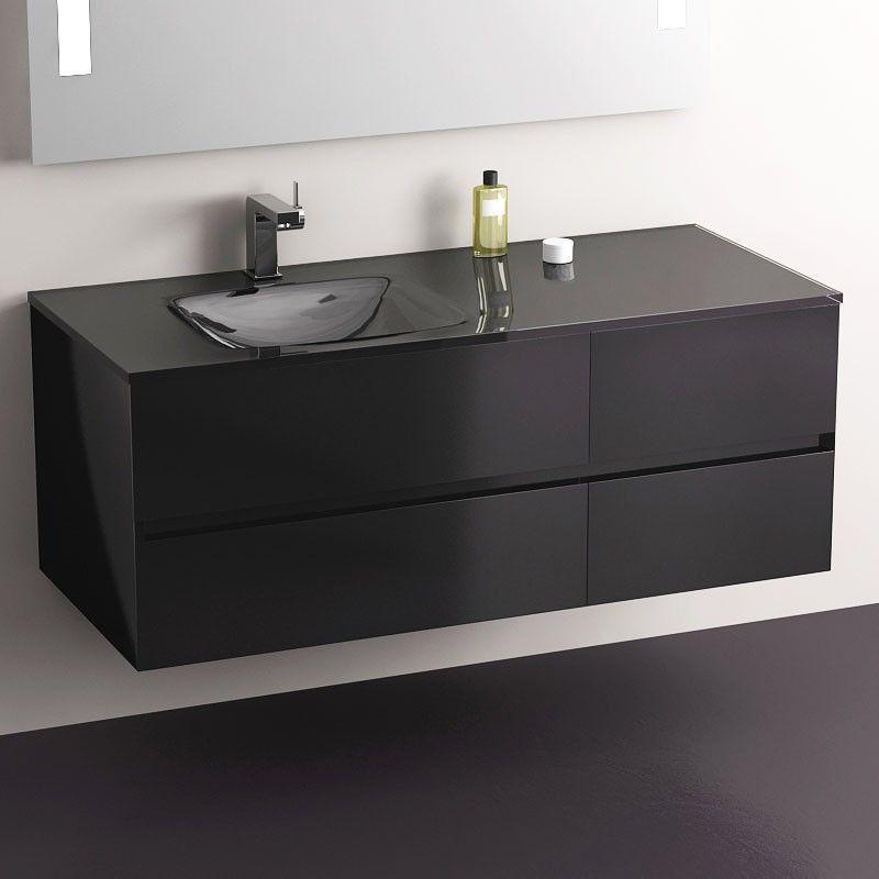 La salle de bain en noir et blanc - masalledebain Meubles