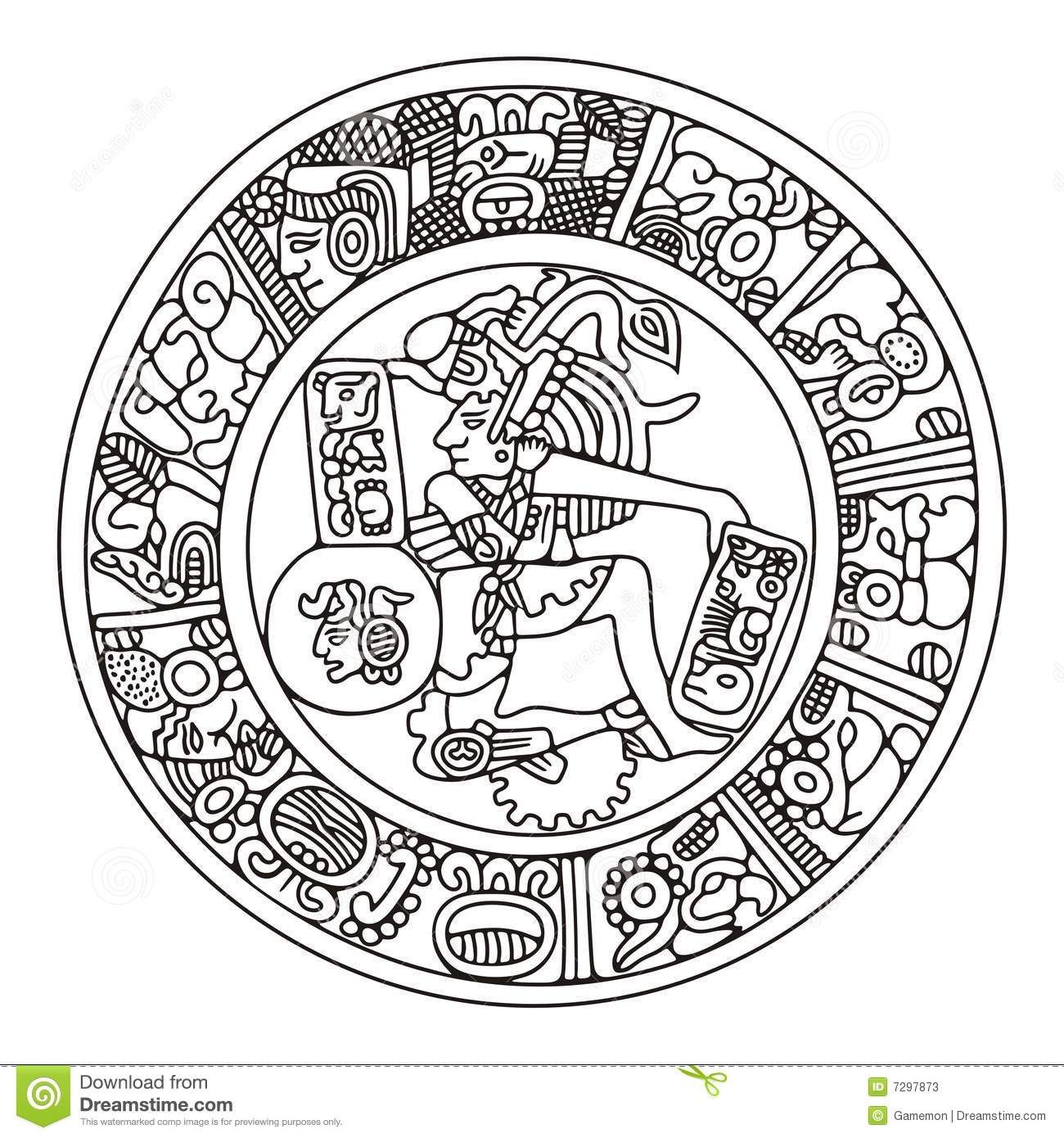 Mayan Calendar Vector Art : Mayan artwork stock photos image classroom