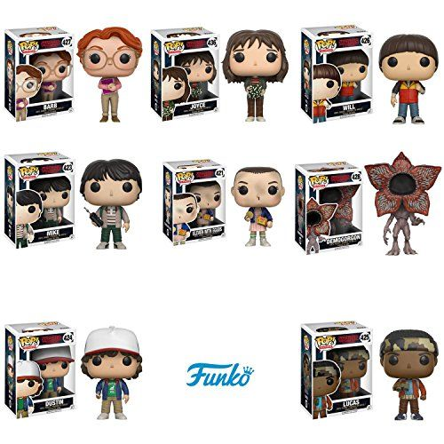 Funko Stranger Things Eleven Demogorgan Barb Mike Lucas Will Dustin Joyce Figure Set Of 8 To View Eleven Stranger Things Stranger Things Demogorgon
