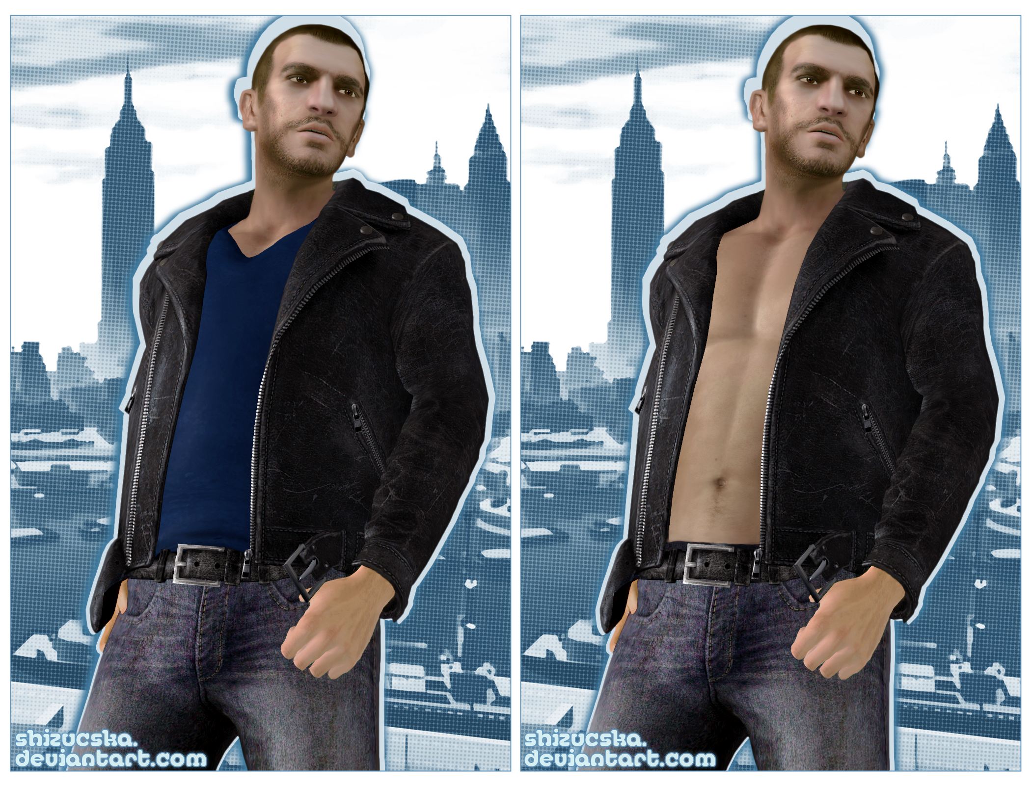 Shirtless Niko Bellic
