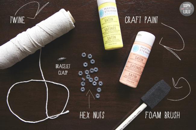 DIY Painted Hex Nut Bracelet | Soph and Lulu