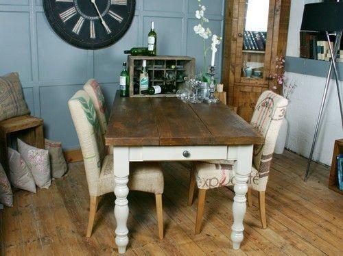 HF Plank Vintage Farmhouse Dining Table