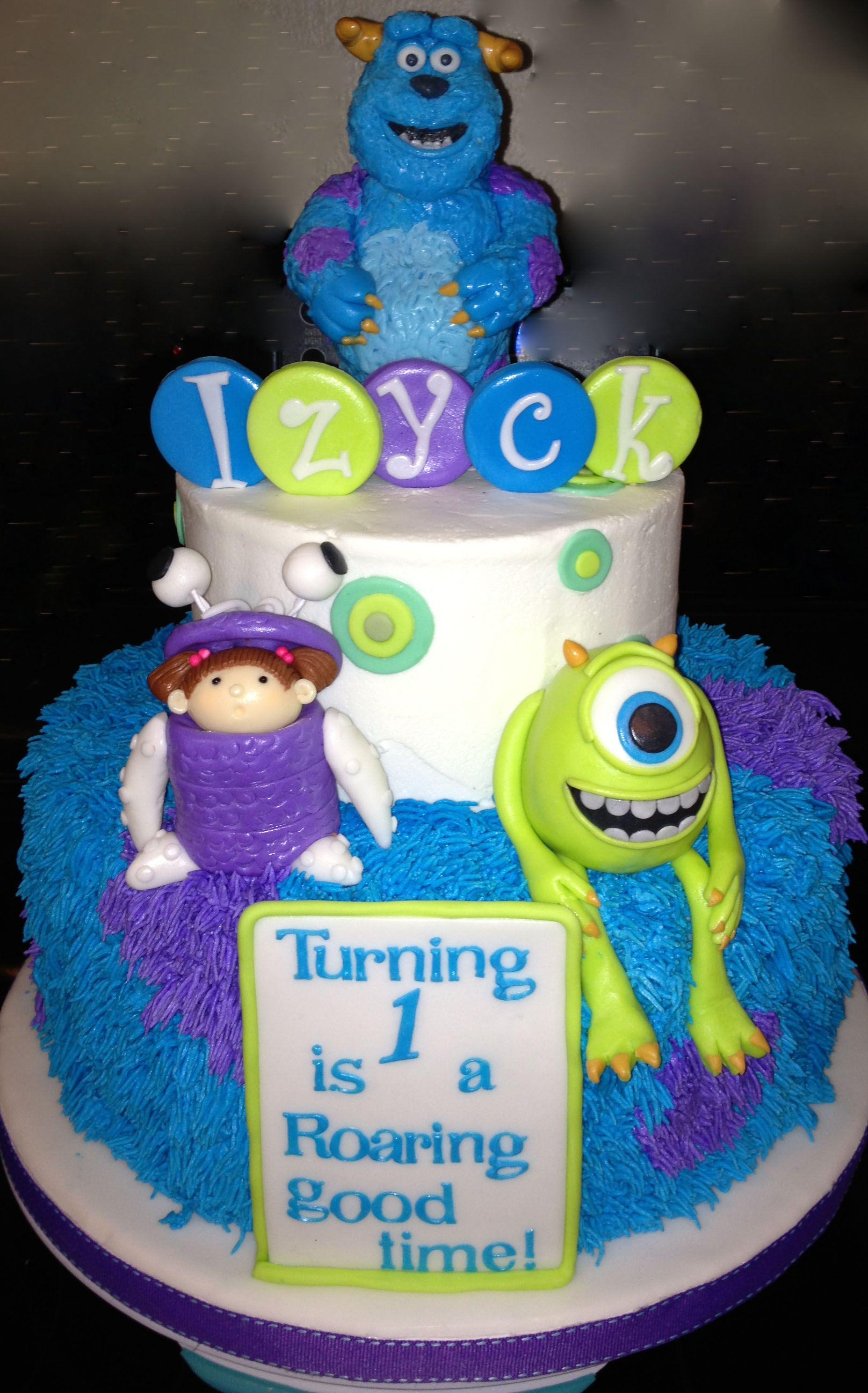 Monsters First Birthday Cake For A Friends Son Chocolate Cake