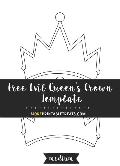 free evil queen s crown template medium size shapes and