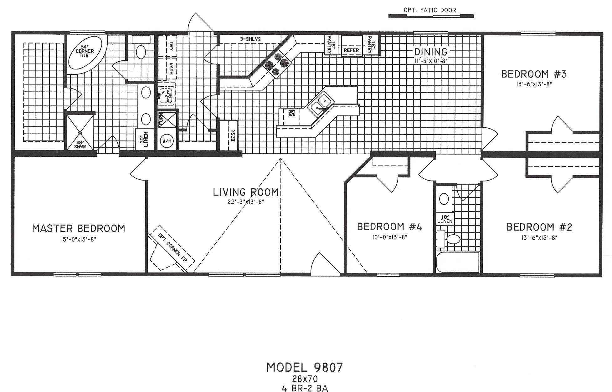 2 Bedroom Mobile Home Floor Plans new 4-bedroom mobile home floor plans |  related posts 4
