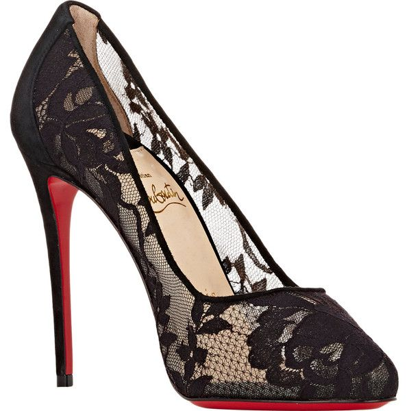 78842913ee4 ... france christian louboutin womens dentelle lace dorissima pumps 795  liked on polyvore featuring shoes ce694 d0b42