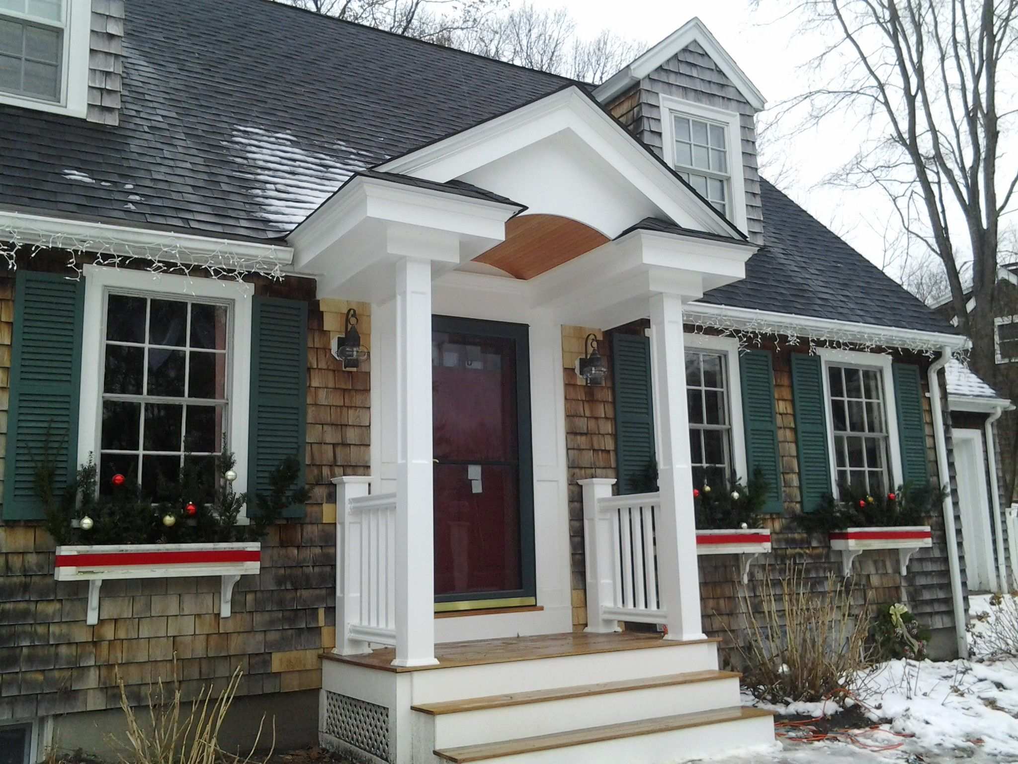Justdecksmass Middlesex County And North Of Boston Ma Outdoor Living Space New Homes Porch Overhang