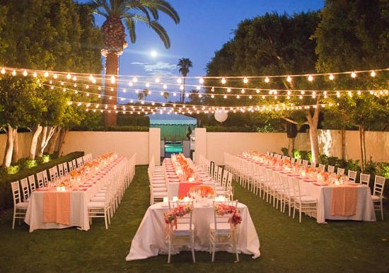 Viceroy Palm Springs Outdoor Garden Reception Directly Upfront Is The Small S Table I Adore Lighting Im A Nut For Lights Of Any Kind This