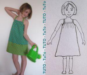 Patron robe plage fille
