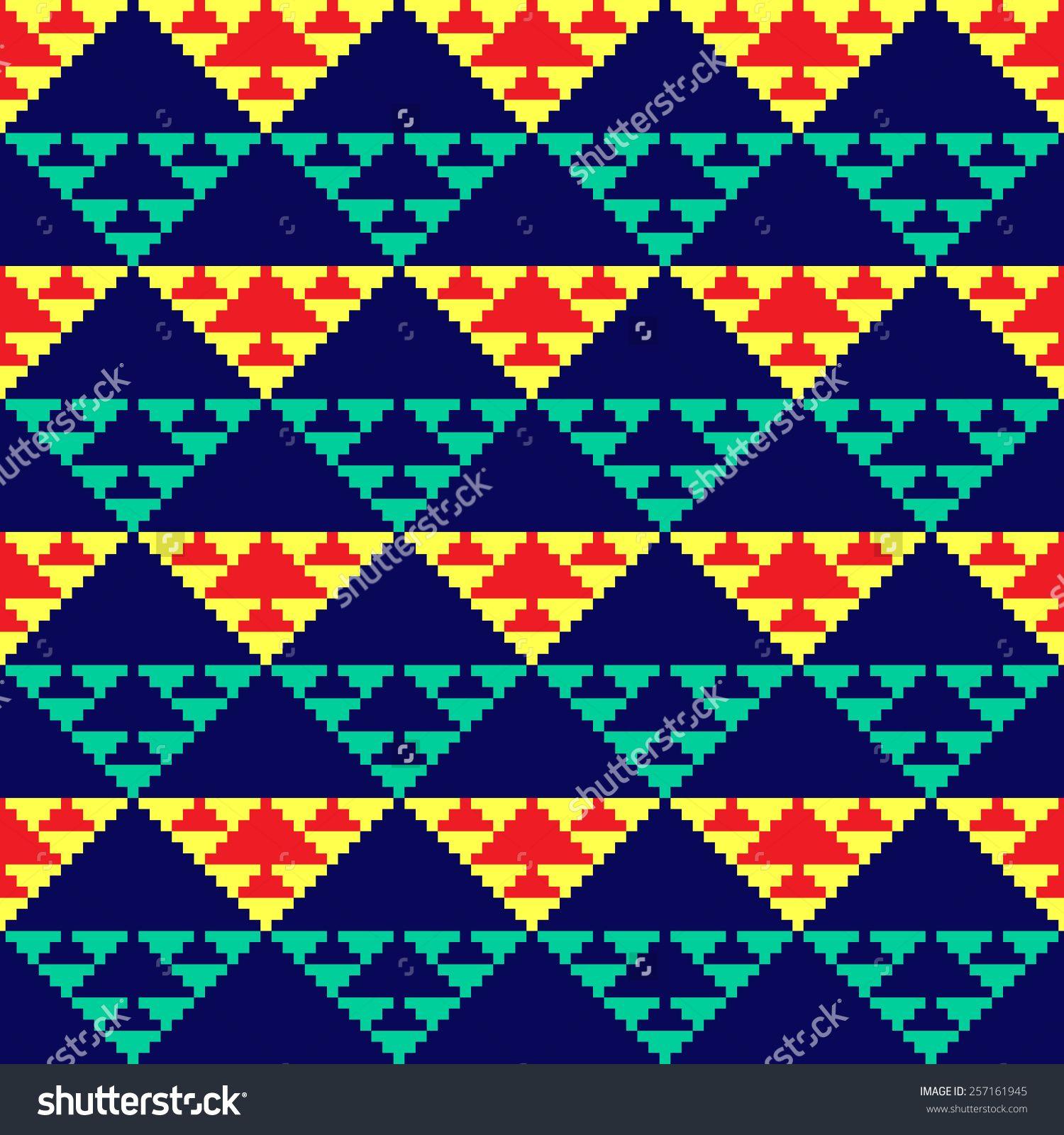 Tribal seamless colorful geometric pattern.   wayuu   Pinterest ...