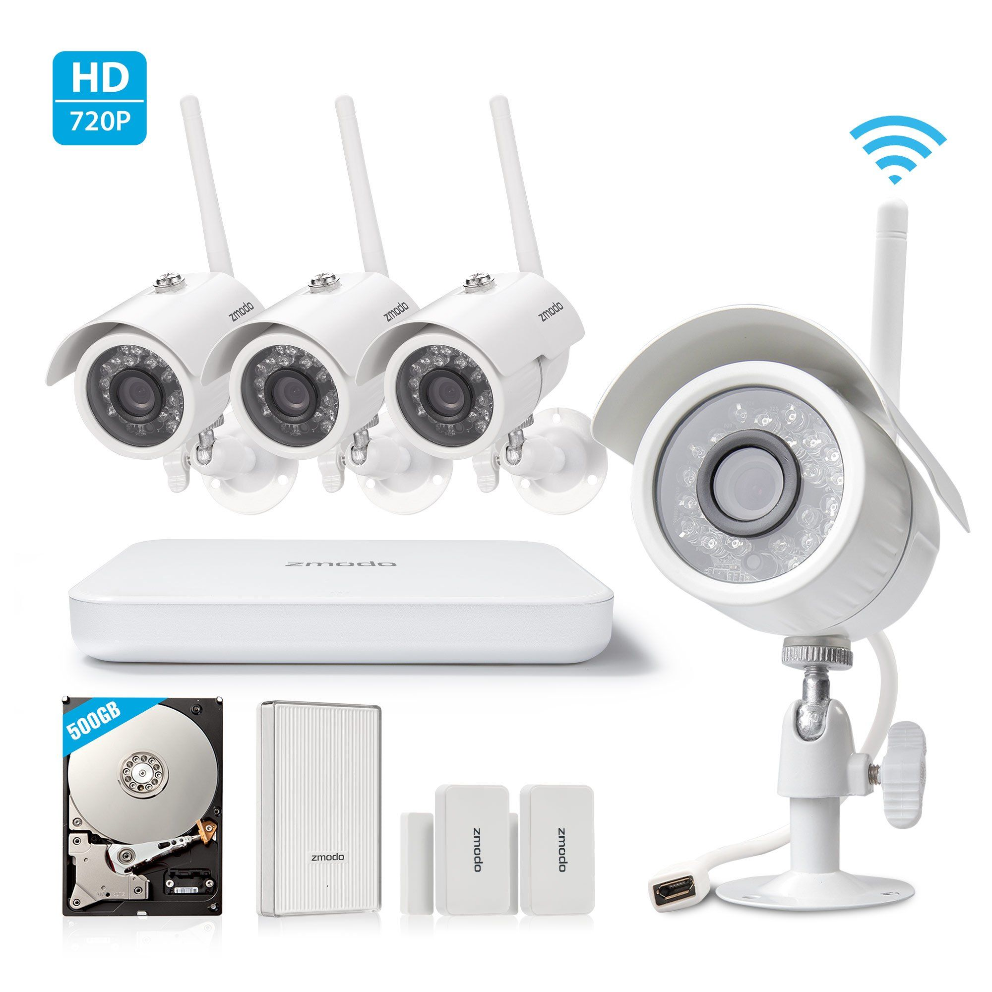 Zmodo All-in-One Wireless Outdoor Indoor Smart Home Security Camera ...