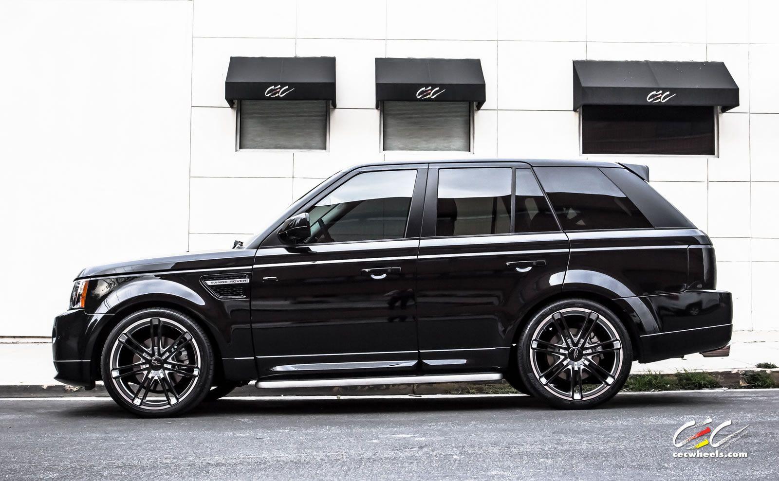suv rims This black on black 2013 Range Rover Sport was
